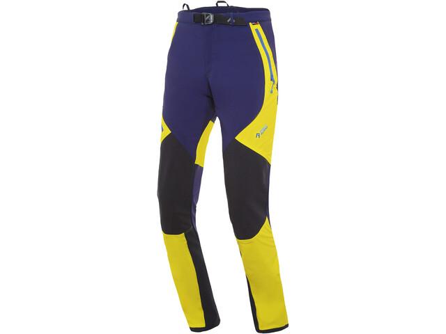 Directalpine Cascade Plus 1.0 Pantalones Hombre, azul/amarillo